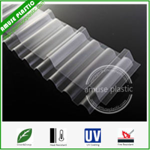 Hot Sell Extrusion Easy Bending PC Corrugated Plastic Roofing Sheets pictures & photos