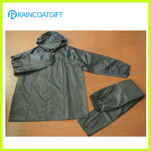 2PCS 100% Polyester PVC Rainsuit Rvc-171 pictures & photos