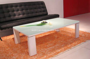 White Metal Coffee Table with Tempered Glass Top (CJ-074A) pictures & photos