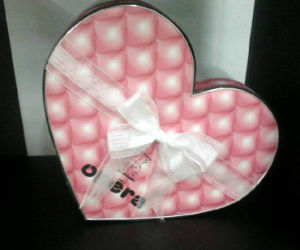 Heart-Shape Gift Packaging Box with Ribbon Bowknot pictures & photos