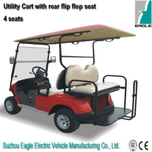 Electric Utility Car (EG2028KSZ, 4-Person, with Rear Flip-Flop Seat) pictures & photos