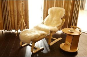 Luxurious Soft Sheepskin Chair Throw Lambskin Rugs pictures & photos