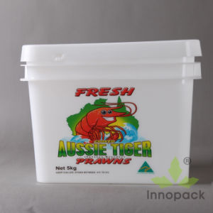 10L Printing Rectangular Plastic Buckets for Seafood and Food pictures & photos