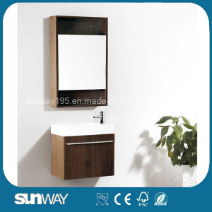 Hot Sale Melamine Bathroom Cabinet with Mirror Cabinet pictures & photos