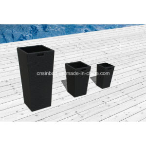 Rattan Flower Pots for Outdoor & Indoor & Garden with Aluminum / SGS pictures & photos
