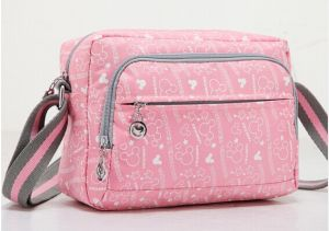 Practical Satchel Bag with Nylon Material and Silk Printing (DX-M021) pictures & photos