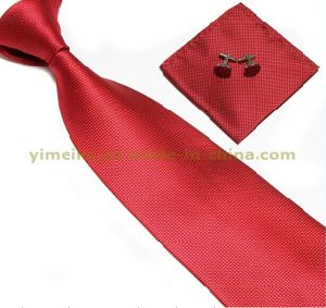 Classical Fashion Men Tie Handkerchief and Cuff Link Set (WH08) pictures & photos