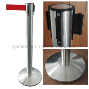 Stainless Steel Plane or Cone Base Crowd Control Retractable Belt Barriers pictures & photos