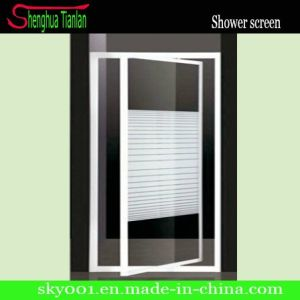 Good Price Simple Aluminium Alloy Glass Hinge Shower Door (TL-408) pictures & photos