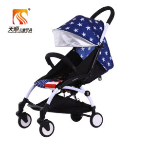 2016 New Model Aluminium Alloy Frame Foldable Lightweight Baby Pram with PU Wheeles pictures & photos