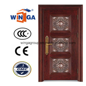 Classic Villa New Design of Steel Security Metal Door (W-S-18) pictures & photos
