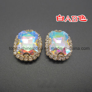 Rectangle Crystal Ab Rhinestone Sew on Clothes (SW-Rectangle 13*18) pictures & photos