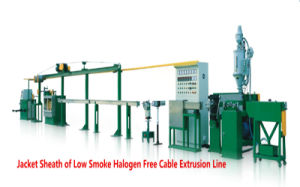 Low Smoke Halogen Free Cable Extrusion Line Extrusion Machine pictures & photos