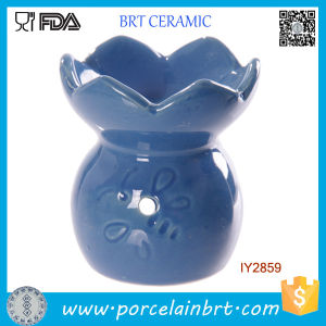 Elegant Blue Flower Ceramic Aroma Burner Wholesale pictures & photos