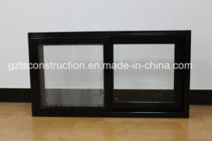 Customzied Powder Coated Black Aluminum/Aluminium Horizontal Sliding Sash Glass Window pictures & photos