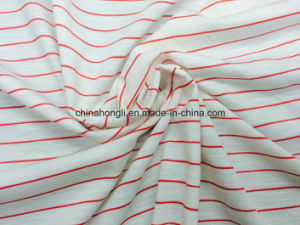 Single Jersey T/R/Sp 60/35/5, 180GSM, Stripe Yarn-Dye Knitting Fabric for Sportwear pictures & photos