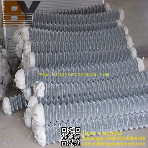 Hot-Dipped Galvanized Diamond Wire Mesh Chain Link Fence pictures & photos