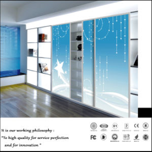 UV Painting Sliding Door Pantry Cabinet (FY1011) pictures & photos