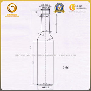 Clear 200ml Cork Top Wine Bottle Wholesale (017) pictures & photos