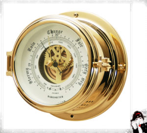 Barometer with Inch and Millibar Scale Opening Center Window 150mm pictures & photos