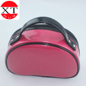 Fashion Vinyl PVC Cosmetic Bag with Cotton Lining pictures & photos