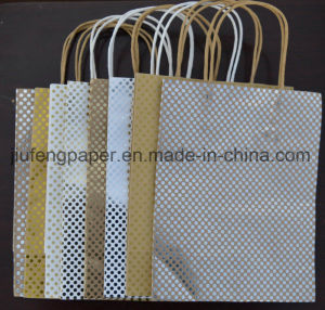Good Quality Kraft Hot Foil Stamping Paper Bag pictures & photos
