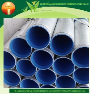 Zinc Coated Welded Steel Pipes with Inner PVC Coating