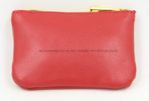 Red PU Material Make up Toilet Cosmetic Bag with Customer Logo pictures & photos
