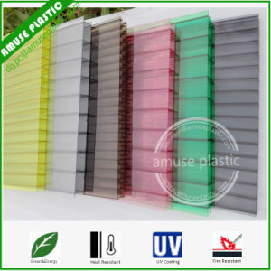 Plastic Decoration Material Polycarbonate Twin-Wall Hollow Sheet Greenhouse Roofing pictures & photos