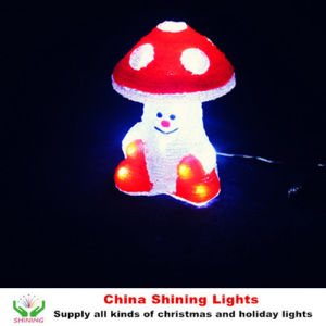Popular LED Christmas Light Mushroom Motif pictures & photos