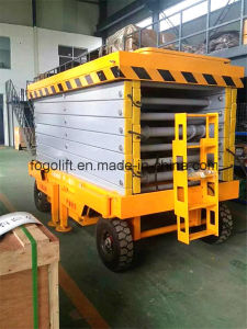 Aerial Manual Hydraulic Mobile Scissor Lift Table Eectric Man Lift Platform pictures & photos