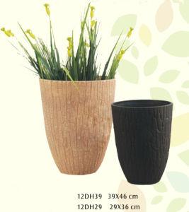 Eco-Friendly Wooden Look Garden Round Flower Pot 12dh Serials / Flower Planter