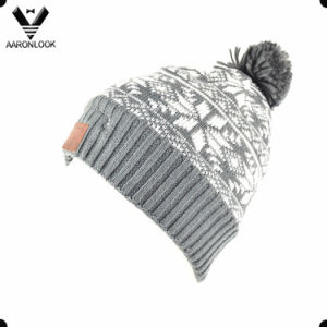 Snowflake Jacquard Knit Winter Hat with Bluetooth Music Function pictures & photos