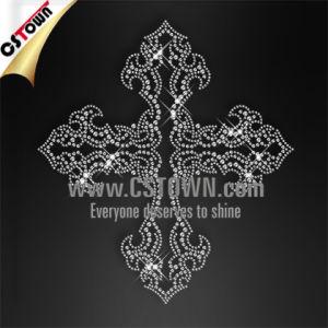 Silver Nailhead Crown Design Textile Bling Transfer Iron on