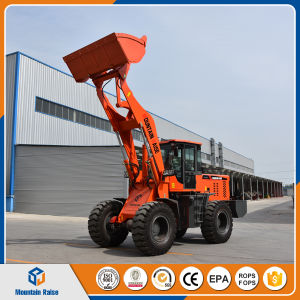 Construction Machinery Hot Sale 2.5ton Front Wheel Loader with Earth Drill pictures & photos