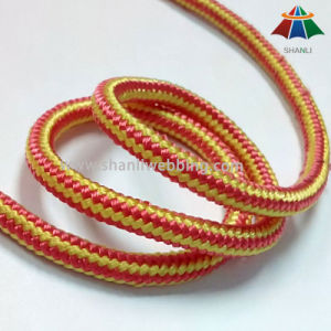 5mm Red Yellow Striped Nylon Cord Rope pictures & photos