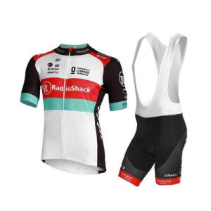 Custom Cycling Jersey and Bib Shorts with Sponsor Name pictures & photos