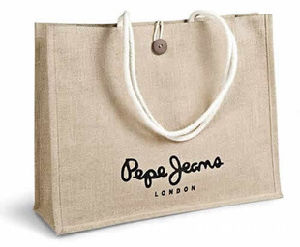 Shopping Bag of Jute Canvas with Handle pictures & photos