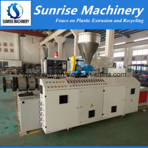 Zhangjiagang PVC Conical Twin Screw Plastic Extruder pictures & photos