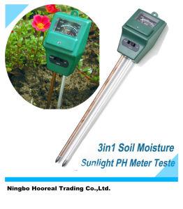 3in1 Hydroponic Soil Moisture Sunlight pH Meter Plant Flower Digital Tester