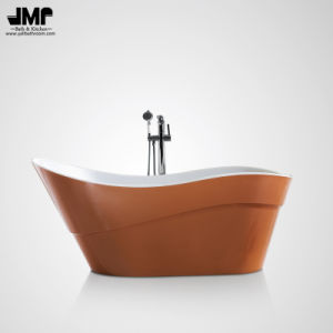 "66.9""Freestanding Pearl Plateorange Bath Tub Acrylic Soaking Bathtub (2088) pictures & photos"