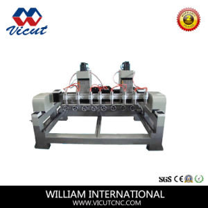 Big Size 6 Heads Rotary CNC Router Machine for Woodworking with Gantry Move pictures & photos