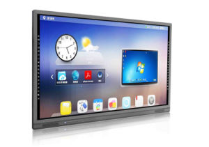 High Resolution Wall Mount Interactive Touch Display WiFi for Education