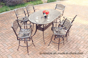 New High Dining Cast Aluminum Garden Furniture pictures & photos