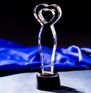 Crystal Trophy Award Thumb with Clear Base pictures & photos