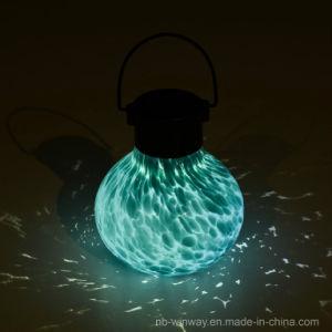 Solar Tea Lantern Hand Blown Luminescent Glass Jar Light pictures & photos