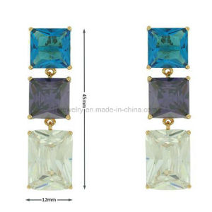 Star Fashion Style Luxury Jewellery Gemstone Eardrop for Party (KE3220) pictures & photos
