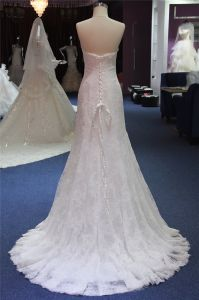 Sweetheart Lace Mermaid Prom Bridal Wedding Dress Gown Mat-109 pictures & photos