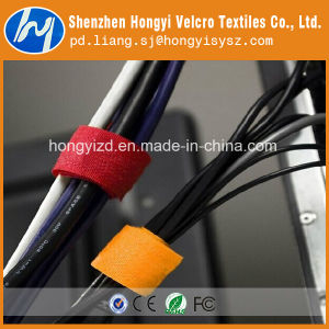 Customized Self-Locking T-Shape Hook & Loop Cable Tie pictures & photos