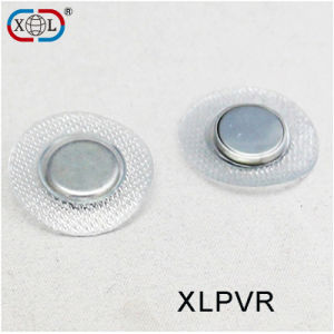 Tailored PVC Cover Round Metal Cup Button Magnet pictures & photos